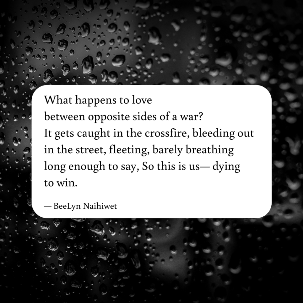 What happens to love, a poem by BeeLyn Naihiwet